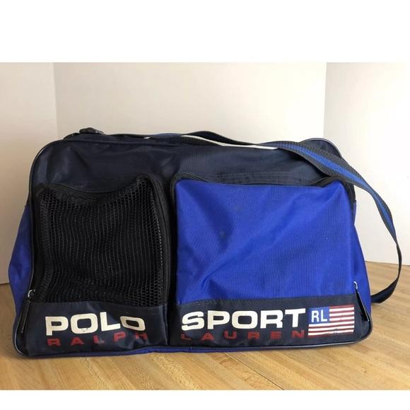 85e57ecd59c6 Vintage Ralph Lauren Polo Sport Duffle Bag Blue. M 5a70b68250687c641784703d